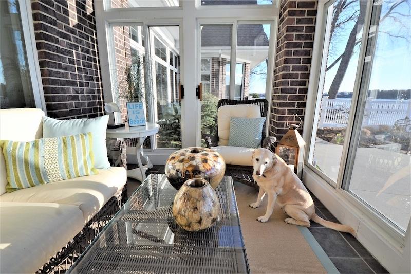 Heating a sunroom - Dog in sunroom
