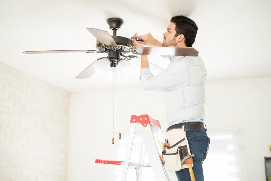 installing a fan.