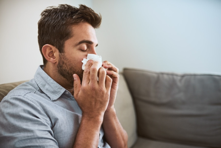 Allergies inside a home in texas.