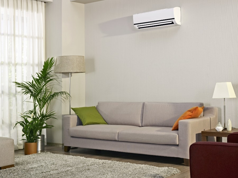 ductless unit in a living room